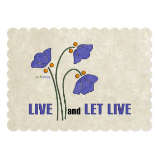 Live and Let Live (Recovery Quote) Card