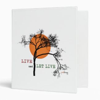 Live and Let Live (Recovery Silhouettes) 3 Ring Binder