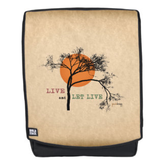 Live and Let Live (Recovery Silhouettes) Backpack