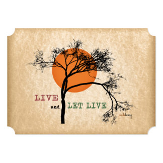 Live and Let Live (Recovery Silhouettes) Card
