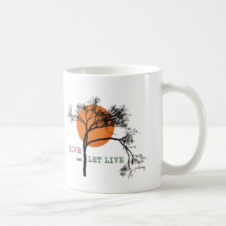 Live and Let Live (Recovery Silhouettes) Coffee Mug