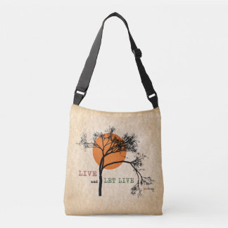 Live and Let Live (Recovery Silhouettes) Crossbody Bag