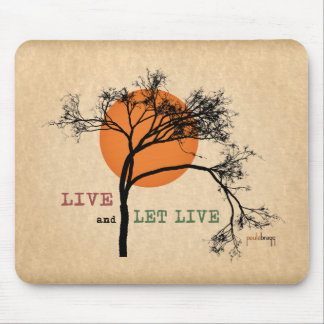 Live and Let Live (Recovery Silhouettes) Mouse Pad