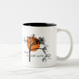 Live and Let Live (Recovery Silhouettes) Two-Tone Coffee Mug