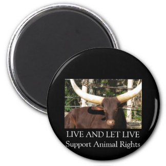 LIVE AND LET LIVE SUPPORT ANIMAL RIGHTS MAGNET
