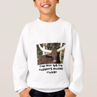 LIVE AND LET LIVE SUPPORT ANIMAL RIGHTS SWEATSHIRT