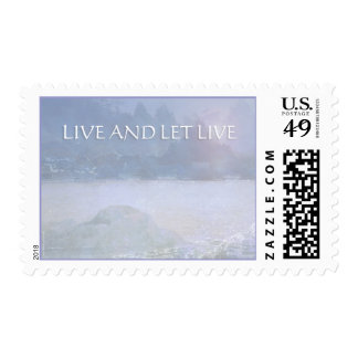 Live and Let Live Water, Rocks, Trees Postage
