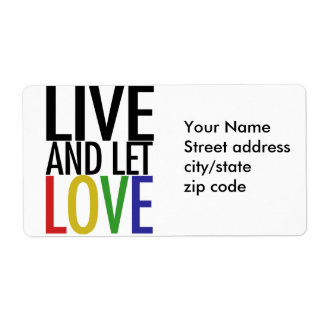 Live and let LOVE Label