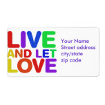 Live and let Love Labels