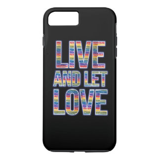 Live and let love rainbow iPhone 8 plus/7 plus case
