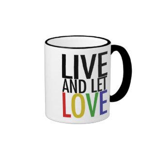 Live and let LOVE Ringer Mug