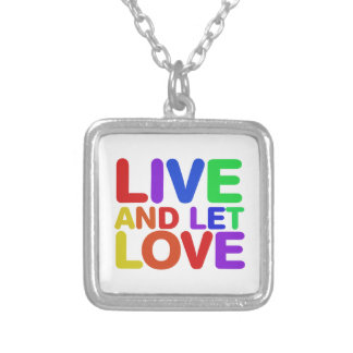 Live and let Love Silver Plated Necklace