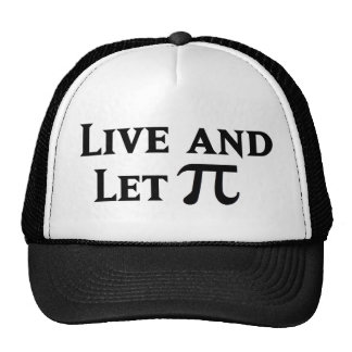 Live and Let Pi Day Parody Hat