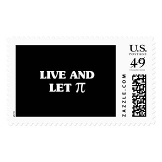 Live and Let Pi Postage Stamps