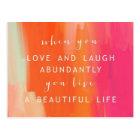 Live and Love Life Postcard