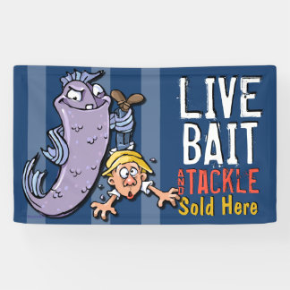 Live Bait.Tackle.For Sale Custom Promotional Banner