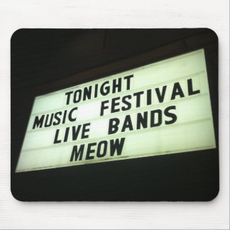 Live Bands Meow Mouse Pad