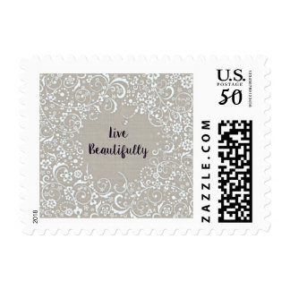Live Beautifully Postage Stamps