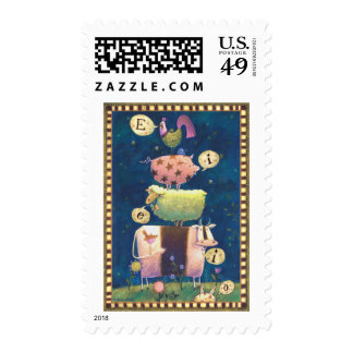 Live Believe Cherish Postage Stamp