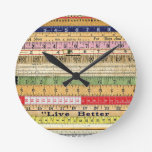 LIVE BETTER RULERS RULES COLORFUL SCRAPBOOKING DIG WALL CLOCK