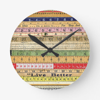 LIVE BETTER RULERS RULES COLORFUL SCRAPBOOKING DIG ROUND CLOCK