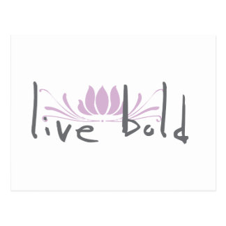 Live Bold Postcard