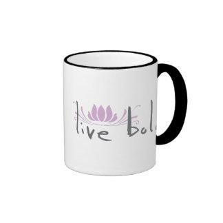 Live Bold Ringer Mug