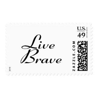 Live brave stamp