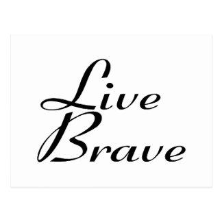 Live brave postcard