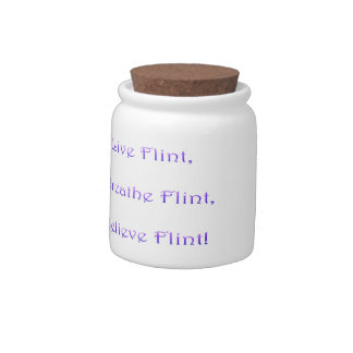live breathe believe Flint candy jar
