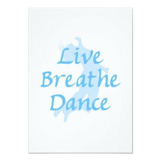 Live Breathe Dance 5x7 Paper Invitation Card