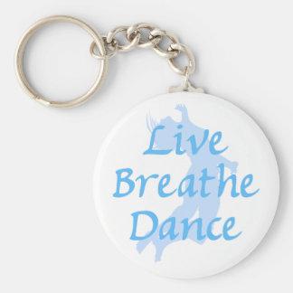 Live Breathe Dance Basic Round Button Keychain