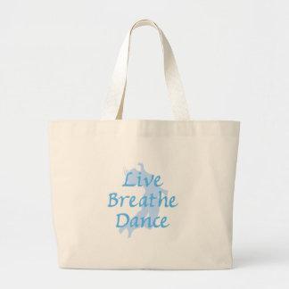 Live Breathe Dance Jumbo Tote Bag