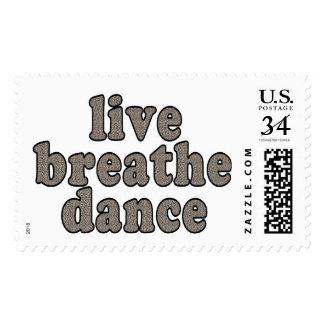 live breathe dance postage