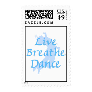Live Breathe Dance Postage Stamp