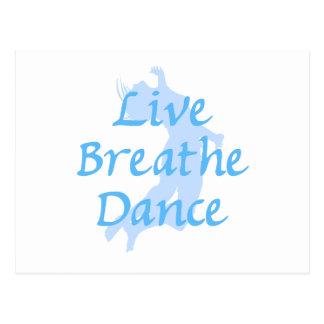 Live Breathe Dance Postcard