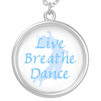 Live Breathe Dance Round Pendant Necklace
