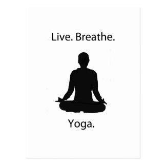 live breathe yoga postcard