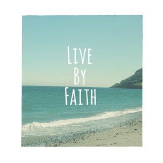 Live by Faith Bible Verse Notepad