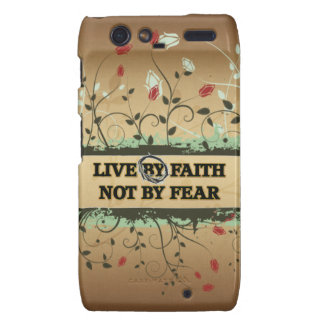 LIVE BY FAITH NOT BY FEAR DROID RAZR CASE