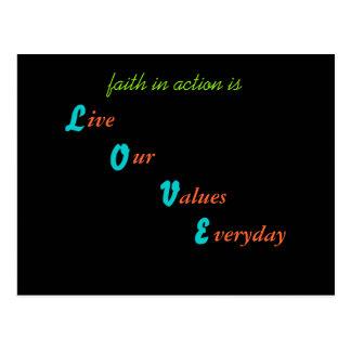 Live by Faith Postcard
