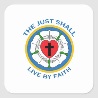 LIVE BY FAITH SQUARE STICKER