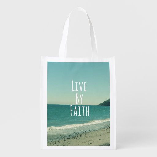 Live by Faith Market Totes