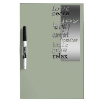 live-centered Dry-Erase board