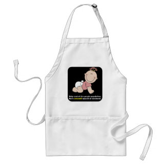 Live childfree: control the people population adult apron