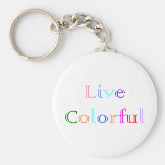 Live  Colorful Keychain