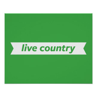 Live Country Poster