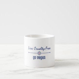 Live Cruelty Free, Go Vegan 6 Oz Ceramic Espresso Cup