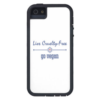 Live Cruelty Free, Go Vegan Case For iPhone SE/5/5s
