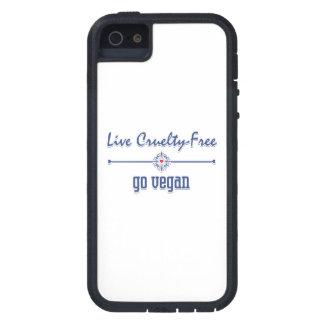Live Cruelty Free, Go Vegan Case For iPhone SE/5/5s